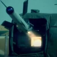 The Spike NLOS anti-tank missile (screen capture: YouTube)