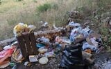 Trash in nature, from a presentation by MK Miki Haimovich during a Knesset Interior Affairs and Environment Committee meeting on waste, June 2, 2020.