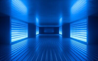 3D render of a room with ultraviolet light (iStock)