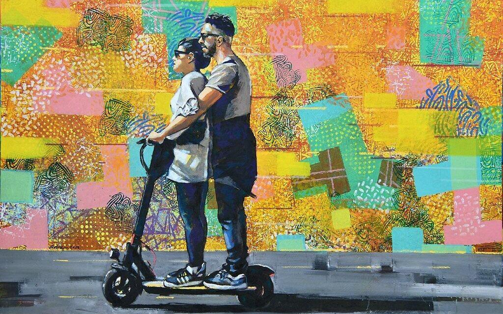 Part of artist David Gerstein's new series being exhibited July 9-August 1 at Artists' House Tel Aviv (Courtesy David Gerstein)