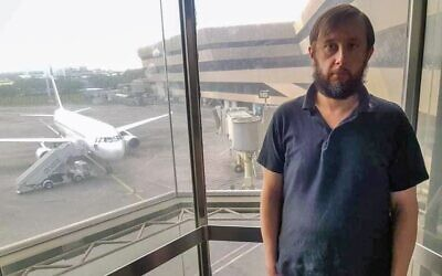 Estonian national Roman Trofimov, in the Manila, Philippines, airport. (Courtesy)