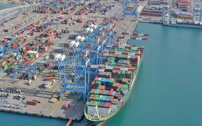 Israel's Ashdod Port (Avi Rokeach)