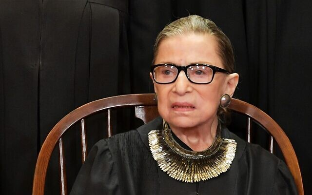 Justice Ruth Bader Ginsburg poses for the official photo at the Supreme Court in Washington on November 30, 2018. (Mandel Ngan/AFP)