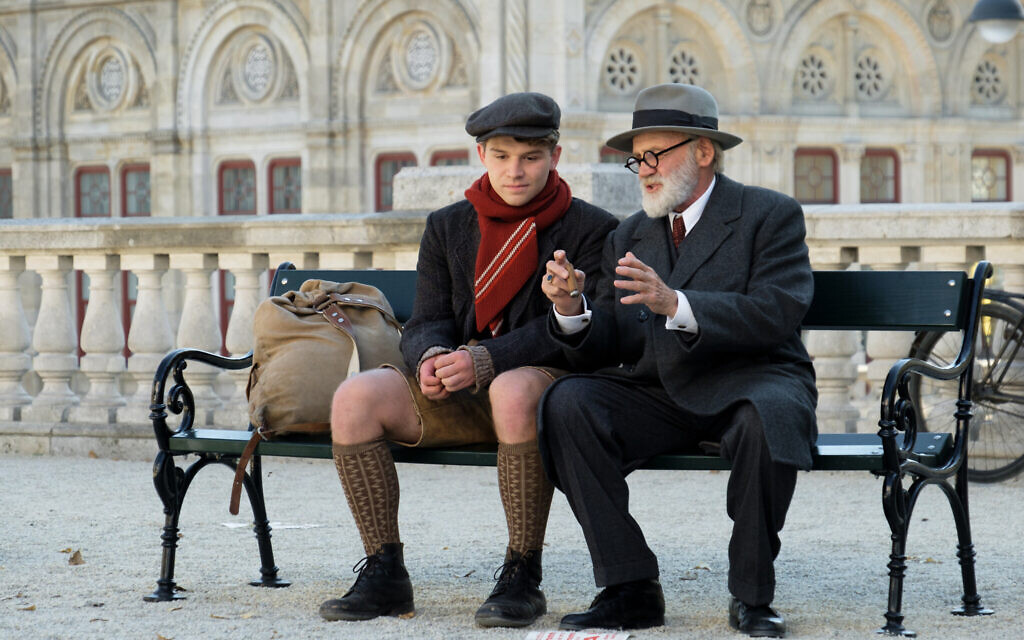 Simon Morzé as Franz, and Bruno Ganz as Sigmund Freud in 'The Tobacconist' (Petro Domenigg/ Epo Film/Glory Film)
