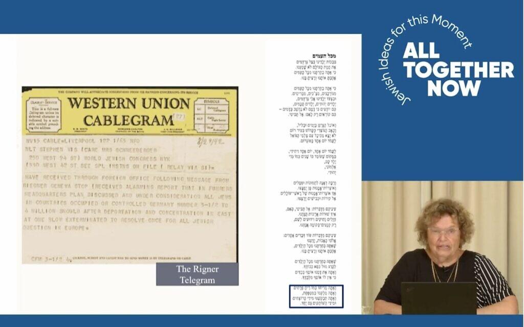 Israeli poet Rachel Korazim has been surprised by the popularity of her online classes during the pandemic. (Screenshot/ via JTA)