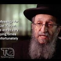 Rabbi Shmuel Kamenetsky endorsed Donald Trump for reelection in an interview with Mishpacha. (Screenshot/ YouTube via JTA)
