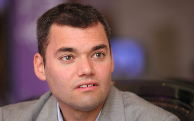 Peter Beinart, pictured here in Israel in 2012, now advocates for one state with equal rights encompassing Israelis and Palestinians. (Flash90)