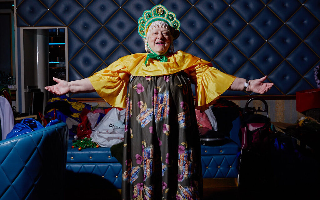 A Russian grandmother in costume at the Your Highness Grandmother Pageant (Gosha Shif/Be Proud Foundation)