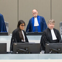File: The Pre-Trial Chamber of the International Criminal Court (ICC), composed of Judge Péter Kovács, Presiding Judge, Judge Marc Perrin de Brichambaut and Judge Reine Alapini-Gansou (courtesy ICC)