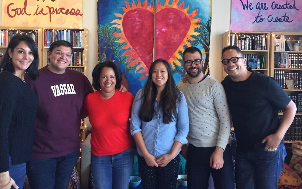 Illustrative: Participants in a think tank event hosted by the Jews of Color Field Building Initiative in Berkeley, California. (Courtesy of Jews of Color Field Building Initiative/ via JTA)