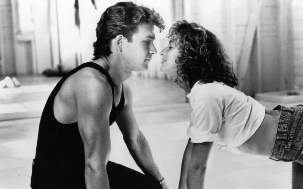 Patrick Swayze and Jennifer Grey in a scene from the 1987 film 'Dirty Dancing.' (Vestron/Getty Images/ via JTA)