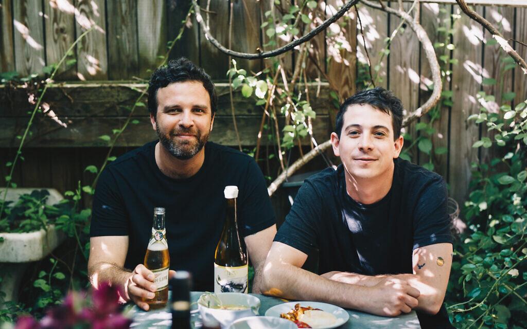 Amir Nathan, left, and Jordan Anderson have adapted their menu for the era of COVID-19. (Briana Balduci/ via JTA)