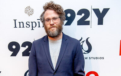 Seth Rogen at the 92nd Street Y in New York City, February 29, 2020. (Roy Rochlin/ Getty Images via JTA)