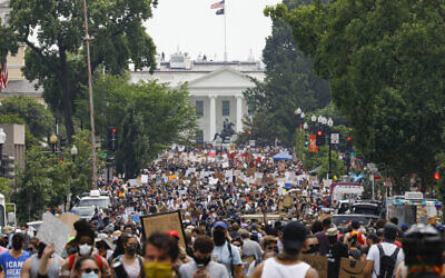Demonstrators against racism gather near the White House in Washington, June 6, 2020. (Jacquelyn Martin/AP)