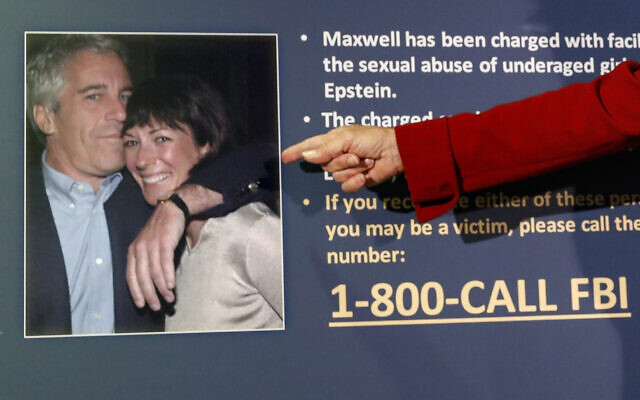 Audrey Strauss, Acting United States Attorney for the Southern District of New York, announces charges against Ghislaine Maxwell for her alleged role in the sexual exploitation and abuse of multiple minor girls by Jeffrey Epstein, July 2, 2020, in New York. (AP/John Minchillo)