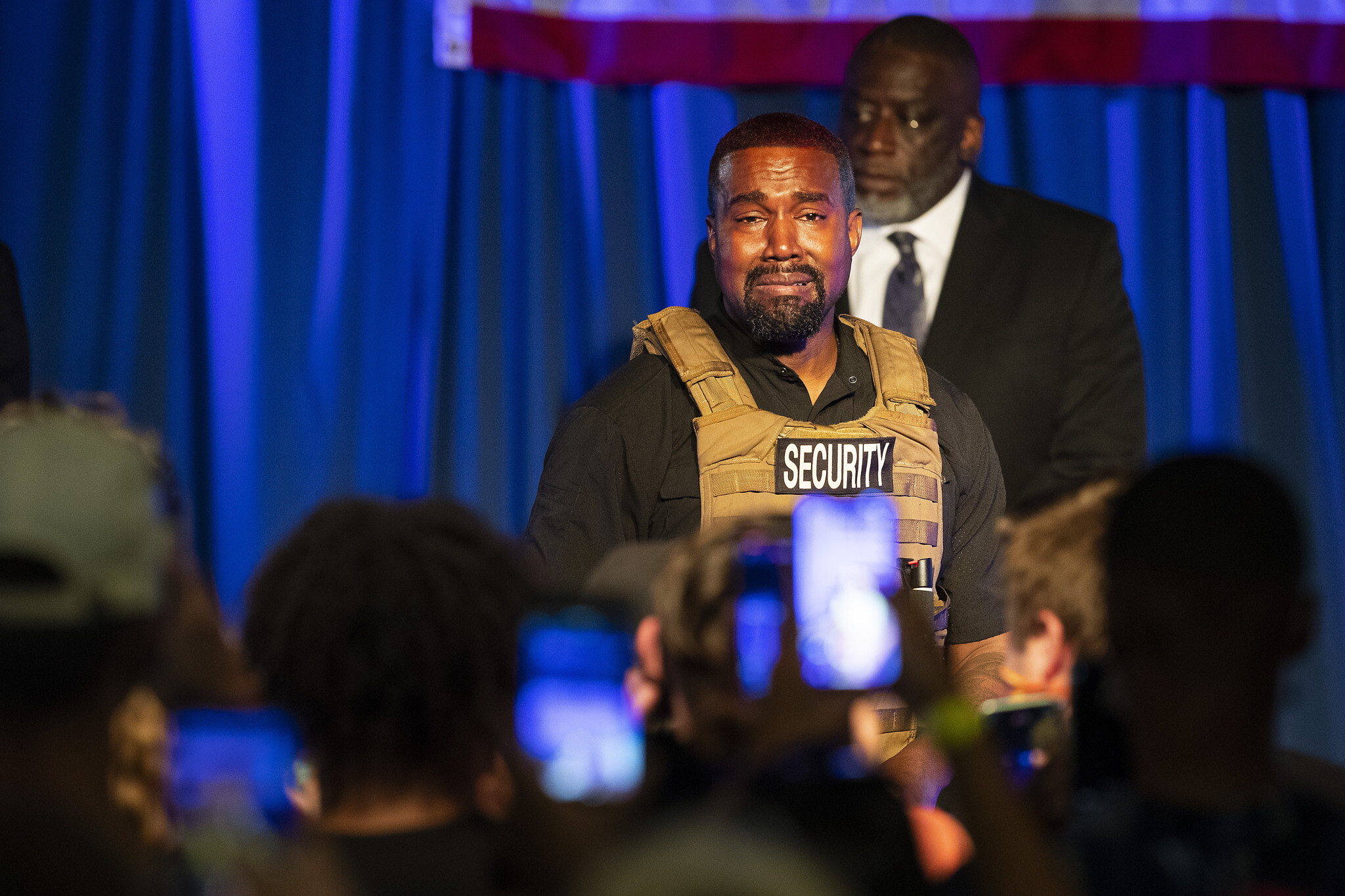 Kanye West launches presidential bid with chaotic rally
