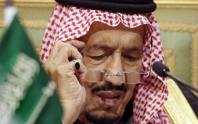 Saudi King Salman chairs the 40th Gulf Cooperation Council Summit in Riyadh, Saudi Arabia, December 10, 2019. (AP Photo/Amr Nabil, File)