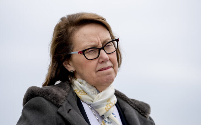 Oregon Attorney General Ellen Rosenblum attends a news conference near the White House, Monday, Feb. 26, 2018 in Washington. (AP/Andrew Harnik)