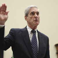 Former special counsel Robert Mueller is sworn in before he testifies before the House Judiciary Committee hearing on his report on Russian election interference, on Capitol Hill, in Washington, July 24, 2019. (AP Photo/Andrew Harnik)