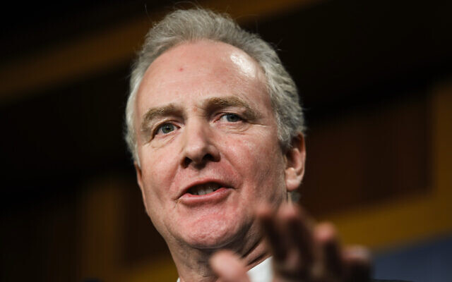 Sen. Chris Van Hollen, Democrat of Maryland, January 16, 2020. (AP Photo/Matt Rourke)