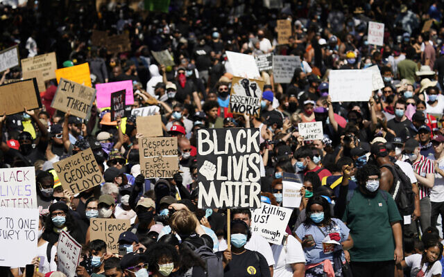 People rally to protest the death of George Floyd in Houston on June 2, 2020. (David J. Phillip/AP)