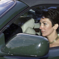 In this Sept. 2, 2000 file photo, British socialite Ghislaine Maxwell, driven by Britain's Prince Andrew leaves the wedding of a former girlfriend of the prince, Aurelia Cecil, at the Parish Church of St Michael in Compton Chamberlayne near Salisbury, England (Chris Ison/PA via AP, File)