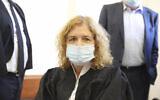 Liat Ben Ari is seen in the Jerusalem District Court, July 19, 2020. (Marc Israel/Pool Photo via AP)