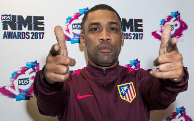 Wiley poses for photographers upon arrival at the NME 2017 music awards in London, February 15, 2017. (Vianney Le Caer/Invision/AP)