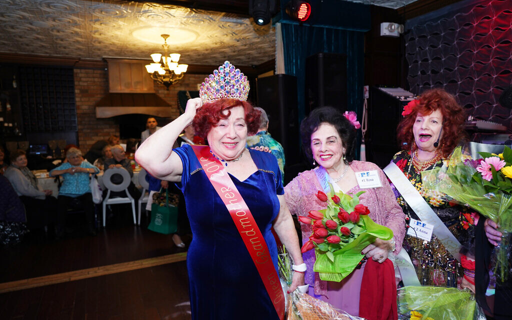 Mara Goldstein (left) and other contestants at the Your Highness Grandmother Pageant (Gosha Shif/Be Proud Foundation)