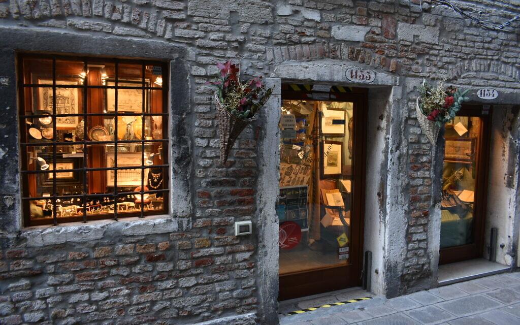 A storefront in Venice's Jewish ghetto. (Photo by Paolo Raccanelli)