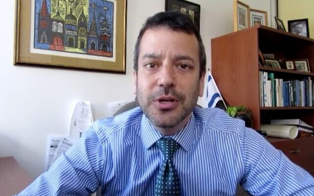 Screen capture from video of Ethan Felson, at the time vice president of the Jewish Council for Public Affairs. (YouTube)