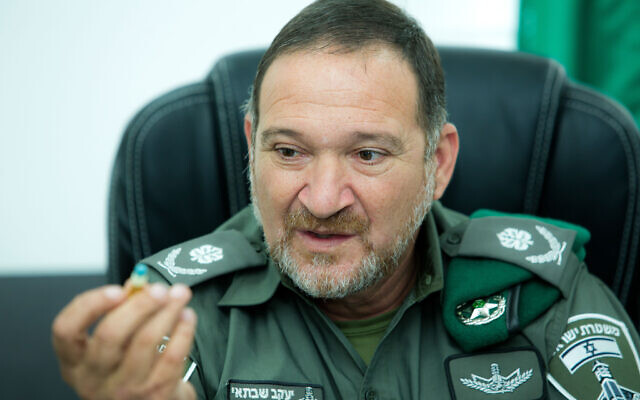 Kobi Shabtai, commander of the Border Police, on September 28, 2017 (Moshe Shai/Flash90)