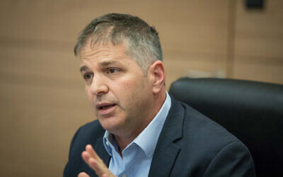 MK Yoav Kisch, then chairman of the Interior Affairs Committee at the Knesset, on July 12, 2018. (Yonatan Sindel/Flash90)