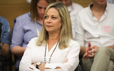 Blue and White MK Miki Haimovich at the Knesset on May 27, 2019. (Noam Revkin Fenton/Flash90)