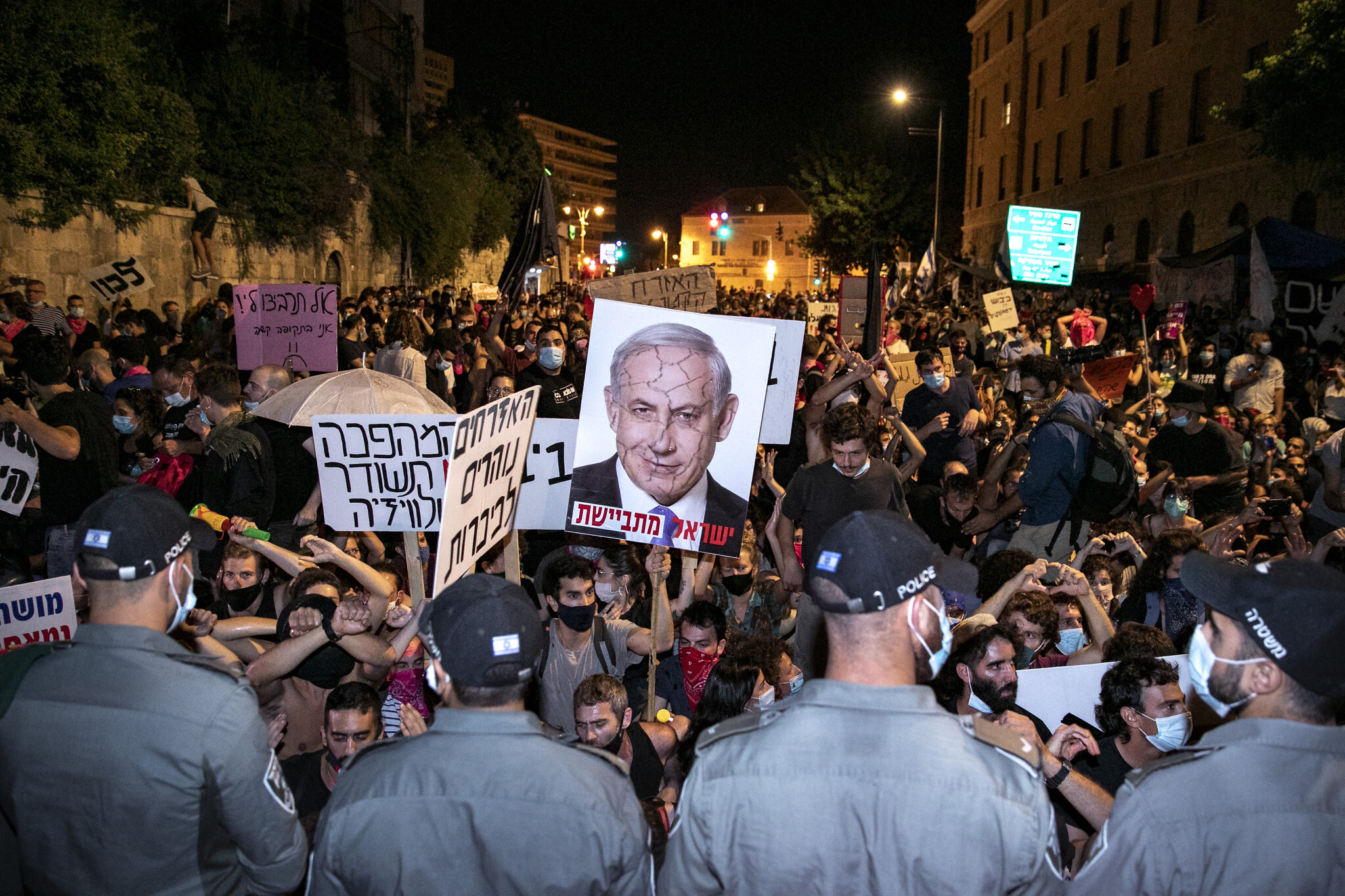 At anti-Netanyahu protests, no clear leaders -- and that's how ...