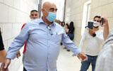 Salman Amar, the former mayor of Julis, is seen at the Haifa District Court on July 28, 2020. (Meir Vaknin/Flash90)