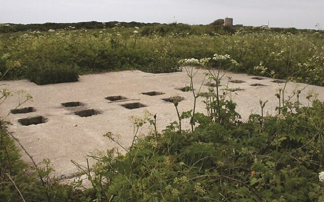The prisoner toilet block at the Sylt concentration camp on the island of Alderney. (Centre of Archaeology, Staffordshire University/ via Antiquity Publications)