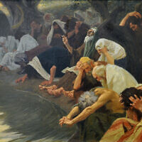 By the rivers of Babylon, painting by Gebhard Fugel, c. 1920 (Wikimedia/ creative commons)