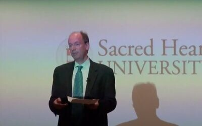 Screen capture from video of Jonathan Sackler, co-owner of Purdue Pharma. (YouTube)