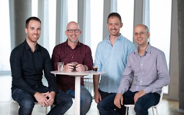 Nucleai's team: Lotan Chorev VP R&D, Eliron Amir, COO, Avi Veidman, CEO, Albert Achterberg, CTO (David-Garb)