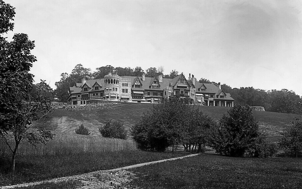 The Phelps Stokes 100-room summer 'cottage' in Stockbridge, Massachusetts, at its completion the largest private home in the United States. (Great Barrington Historical Society Collection)