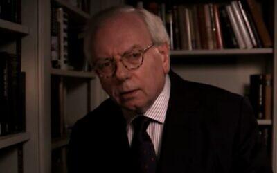 David Starkey (Screen capture: YouTube)