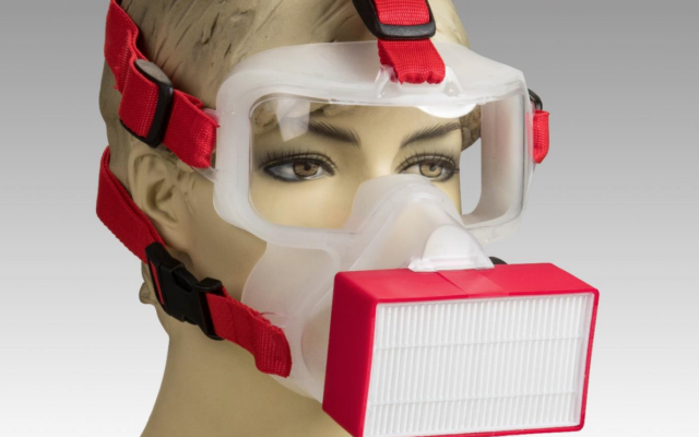The new ViriMASK, invented by Noam Gavriely (courtesy of ViriMASK)