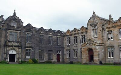 St. Salvator's Quad at the University of St. Andrews in Scotland. (Remi Mathis/Wikimedia Commons via JTA)