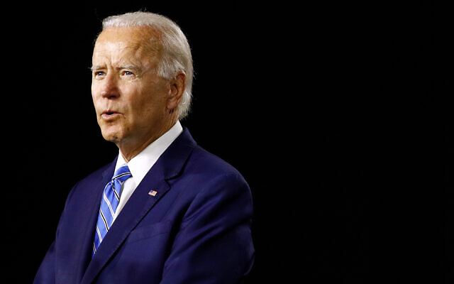 Then-presumptive Democratic presidential candidate Joe Biden speaks at a campaign event, July 14, 2020, in Wilmington, Delaware. (AP/Patrick Semansky)