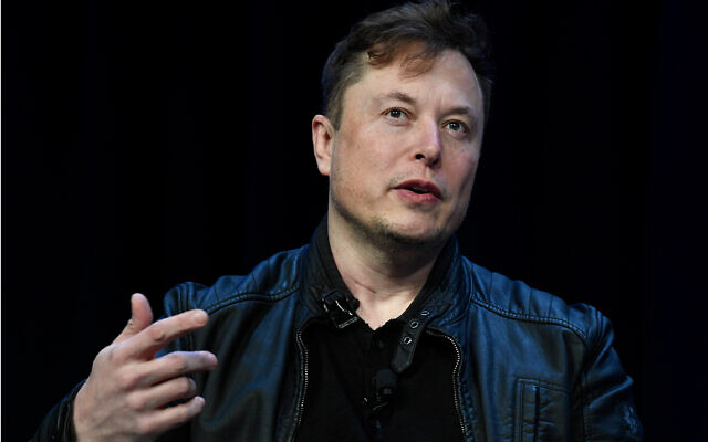 Tesla and SpaceX CEO Elon Musk speaks at the SATELLITE Conference and Exhibition in Washington, March 9, 2020. (AP Photo/Susan Walsh)