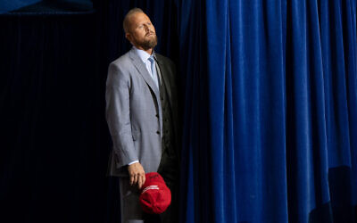 Brad Parscale, campaign manager for US President Donald Trump's 2020 reelection campaign, attends a rally at the Toyota Center in Houston, Texas, October 22, 2018. (Saul Loeb/AFP)