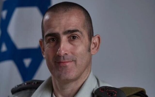 Col. Doron Ben-Barak, who was nominated to serve as the country's next military censor on July 9, 2020. (Israel Defense Forces)