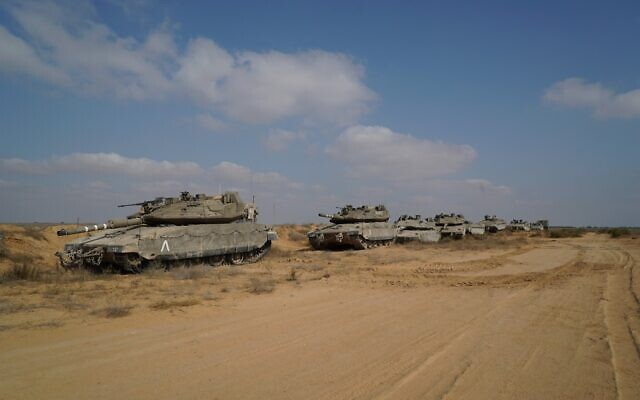 Tanks from the IDF's Ghost Unit take part in a weeks-long training exercise in July 2020. (Israel Defense Forces)