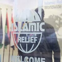 Illustrative: A man enters Islamic Relief Worldwide's headquarters in Birmingham, UK (video screenshot)